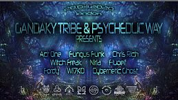 Party Flyer The Psychedelic Way & Gandaky Tribe 25. Apr. 20, 23:00