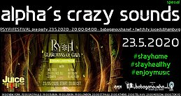 Party Flyer alpha.s crazy sounds special - PSY-FI pre party 23 May '20, 20:00