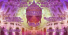Party Flyer Psychedelic Living Room #7 24 May '20, 16:00