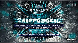 Party Flyer StudioShelter x Trippedelic 30 May '20, 15:00