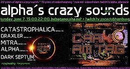Party Flyer alpha.s crazy sounds special - DarkAmTag 7 Jun '20, 15:00