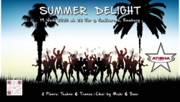 Party Flyer Atisha: Summer Delight (TranceDance) 19. Jun. 20, 22:00