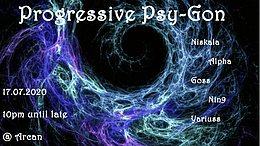 Party Flyer Progressive Psy-Gon: July Edition 17 Jul '20, 22:00