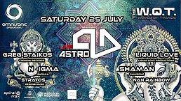 Party Flyer Astro-D Live/ Greg Staikos/ Shaman/ LiquidLove/ N-igma/ NaN RainBow/ Stratos 25 Jul '20, 23:30