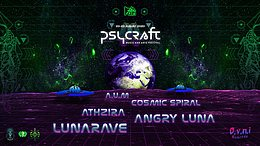 Party Flyer Psycraft Festival - Overview Effect 20. Aug. 21, 14:00