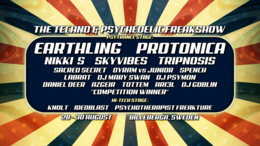 Party Flyer The Techno and Psychedelic Freakshow 28 Aug '20, 17:00