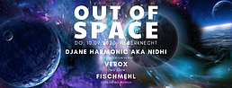 Party Flyer Out of Space 10. Sep. 20, 20:00