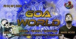 Party Flyer Goa World | Ranji Live | Whitenoise Live | 4 Floors 11. Sep. 20, 22:00