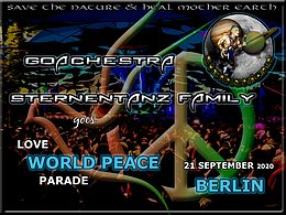Party Flyer Goachestra Sternentanz goes Love World Peace Parade 2020 21 Sep '20, 10:00