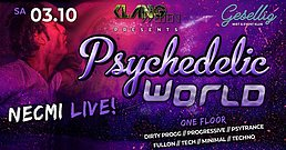 Party Flyer Psychedelic World | Necmi Live 13 Mar '21, 22:00