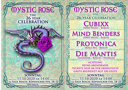 Party Flyer The 26 Year Mystic Rose Celebration 11 Oct '20, 14:00