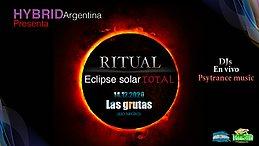 Party Flyer Ritual eclipse solar total / Las grutas (Argentina) / Hybrid sounds 14 Dec '20, 12:00