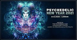 Party Flyer Psychedelic New Year 2021 31. Dez. 20, 22:00