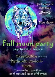 Party Flyer Full Moon Party 28 Jan '21, 16:00
