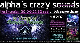 Party Flyer alpha.s crazy sounds: 10 Years Of Banyan Records 1 Apr '21, 20:00