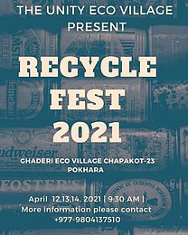 Party Flyer RECYCLE FEST 2021 12. Apr. 21, 11:30