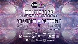 Party flyer: Multiverse Online Psychedelic Festival 23. Apr. 21, 22:00