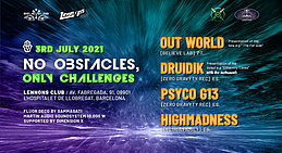 Party flyer: No Obstacles, Only Challenges 3 Jul '21, 21:00