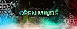 Party flyer: OPEN MINDS • In- and Outdoor Gathering @ Club SENDER 30 Jul '21, 22:00
