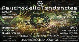 Party flyer: Psychedelic Tendencies 30 Jul '21, 21:00
