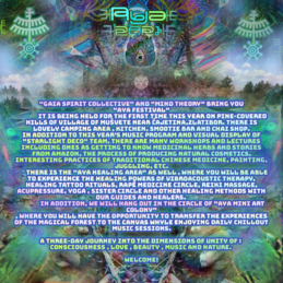 Party flyer: AYA psychedelic gathering 13 Aug '21, 19:00