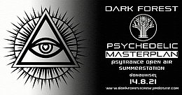 Party flyer: Psychedelic Masterplan 14 Aug '21, 14:00
