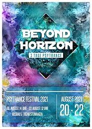 Party Flyer Beyond Horizon (Drei Tage Psytrance) 20 Aug '21, 14:00