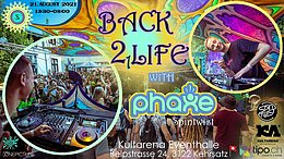 Party flyer: ProgVisions Back 2 Life Daydance w/ PHAXE uvm. 21 Aug '21, 13:00