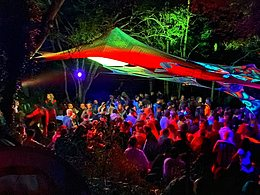 Party Flyer The Psychedelic Way Free Party in Secret Forest Bank Holiday 28 Aug '21, 22:00