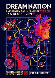 Party flyer: 17 & 18 September 2021 – DREAM NATION FESTIVAL – OPEN AIR 17 Sep '21, 20:00