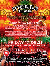 Party flyer: Psychedelic Theatre back at KitKat 17 Sep '21, 22:00