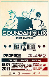 Party Flyer Bassproduction Psy special Soundaholix 1st time in Austria & Riktam GMS (FM) 18 Sep '21, 21:00