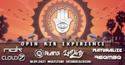 Party Flyer Psychedelic Pounding - Open Air Experience - Ranji, NOK, Naturalize, LsDity uvm. 18 Sep '21, 18:00