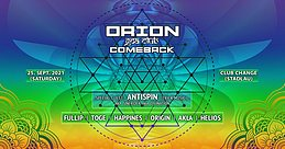 Party flyer: Orion Goa Club - The Comeback 25 Sep '21, 22:00
