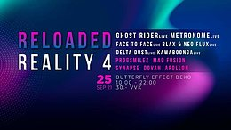 Party Flyer RELOADED REALITY 4 25 Sep '21, 10:00