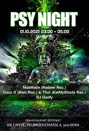 Party flyer: Psy Night 1 Oct '21, 23:00