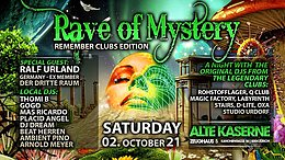 Party flyer: RAVE OF MYSTERY 2 Oct '21, 22:00