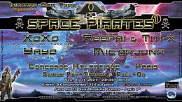 Party Flyer SPACE PIRATES 1 8 Oct '21, 23:30