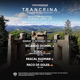 Party flyer: T.R.A.N.C.E.I.N.A (MEDIEVAL FESTIVAL) Garden Open Air 10 Oct '21, 10:00
