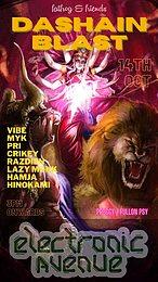 Party Flyer Dashain Blast 14 Oct '21, 13:00