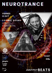 Party Flyer NEUROTRANCE with Cosmic Sound - Erofex - Solarbong 15 Oct '21, 18:00
