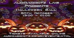 Party flyer: AudioAddictz Live Presents Halloween Ball 30 Oct '21, 13:00