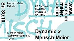 Party flyer: DYNAMIC x MENSCH MEIER (HALLOWEEN SPECIAL) 30 Oct '21, 14:00