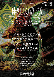 Party flyer: Halloween Psychedelic Experience (Silent Disco at Nature) 30 Oct '21, 20:00