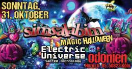 Party Flyer SIMSALABIM / Magic Haloween Gathering / Electric Universe Live 31 Oct '21, 21:00
