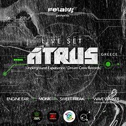 Party flyer: ATRUS Live in Lebanon 6 Nov '21, 22:00