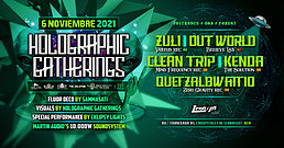 "Party flyer: Holographic Gatherings presents "" In Wonderland "" 6 Nov '21, 23:00"