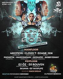 Party flyer: Alpha Beta Goa #Wowirsindistvorne 19 Nov '21, 21:00