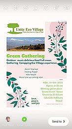 Party flyer: Green Gathering Vol-VIII 19 Nov '21, 01:30