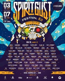 Party flyer: Spirit Gust Festival 8.0 3. Feb. 22, 17:00
